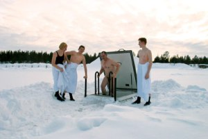 Finnish Ice Swimmers