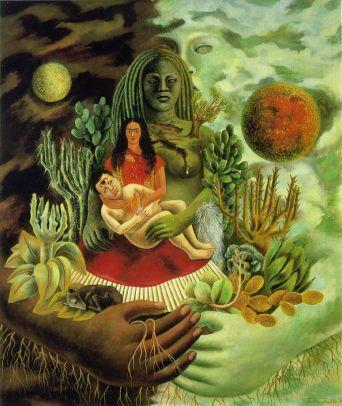 El Abrazo de Amor del universo, La Tierra, Frida Kahlo